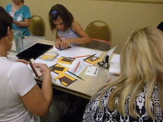 kids stamp for the troops for From Our Hearts Christmas in August event 2010