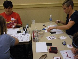 stamping their hearts out at annual Christmas in August cardmaking event for From Our Hearts