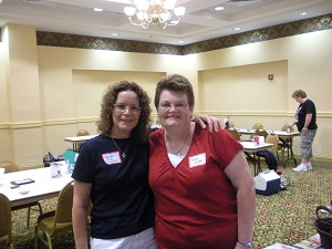 Julie Wilson and Martie Shea at Christmas in August 2010 event