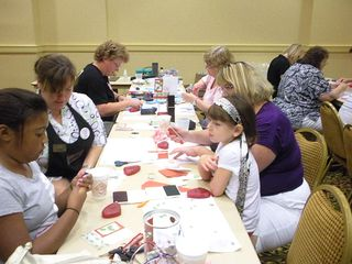 stamping for the troops Christmas in August event 2010 From Our Hearts