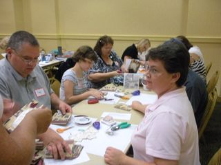 supporting the troops with stamping handcrafted cards at Christmas in August annual event 2010 for From Our Hearts