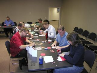 Rorke Employees Work Hard On making Greeting Cards For Troops For Rorke 25 Charity Event 110910